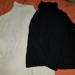 2 Free People Turtle Cowl Neck Thermal Tunic